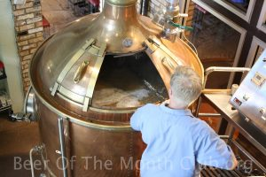 Picture of a brew master making beer